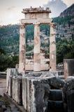 Hoger Centraal Griekenland, Augustus 2015, het oude heiligdom van Delphi - Tholos Van Delphi royalty-vrije stock foto's