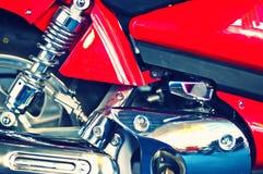 Hoger deel van een motorfietsmotor stock afbeeldingen