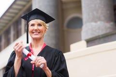Hoger gediplomeerd certificaat royalty-vrije stock fotografie