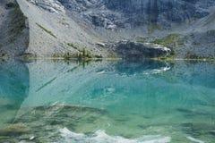 Hoger meer op Joffre Lake Hike dichtbij Pemberton Stock Foto's