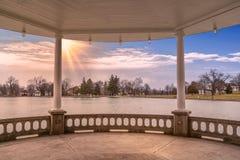 Hoger Onondaga-Park stock foto
