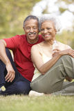 Hoger Paar dat na Oefening rust Royalty-vrije Stock Foto's