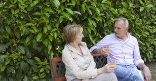 Hoger Paar in de Tuin Stock Fotografie
