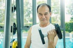 Hoger spier Aziatisch mannelijk lichaam Stock Afbeelding