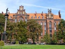 Hoger Theologisch Seminarie in Wroclaw stock foto