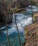 Hoger Weergeven van de Fenwick-Mijnenwatervallen stock foto's