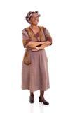 Hogere Afrikaanse vrouw die omhoog kijken Stock Foto