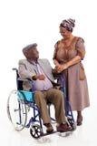 Hogere Afrikaanse vrouwenechtgenoot Stock Afbeelding