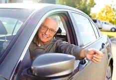 Hogere autobestuurder Royalty-vrije Stock Fotografie