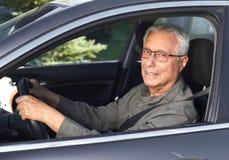 Hogere autobestuurder Royalty-vrije Stock Foto's