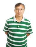 Hogere Aziatische mens Stock Foto