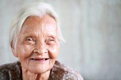 Hogere Aziatische vrouw Stock Fotografie