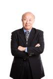 Hogere Aziatische zakenman Stock Foto