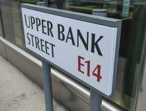Hogere Bankstraat Canary Wharf - Londen Engeland het UK Royalty-vrije Stock Afbeeldingen