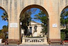 Hogere Barrakka-Tuinen, Valletta Stock Afbeeldingen