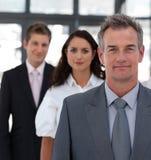 Hogere Bedrijfsmens voor team Royalty-vrije Stock Afbeeldingen