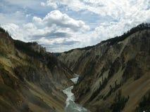 Hogere Dalingen Yellowstone Stock Foto's