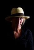 Hogere Dame Pensive royalty-vrije stock foto