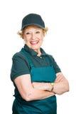 Hogere Dame Worker royalty-vrije stock afbeeldingen