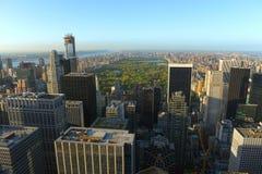 Hogere de Stadshorizon van Manhattan, de Stad van New York Royalty-vrije Stock Afbeelding
