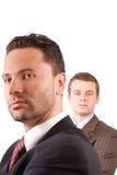 Hogere en ondergeschikte zakenlieden royalty-vrije stock foto's