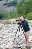 Hogere Fotograaf royalty-vrije stock foto