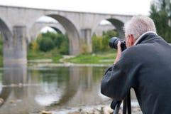 Hogere Fotograaf royalty-vrije stock afbeeldingen