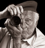 Hogere Fotograaf Stock Foto