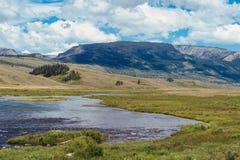 Hogere Groene Rivier, Wyoming stock foto
