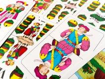 Hogere Jack van de Duitse speelkaarten van kenwijsjeklokken Stock Foto