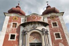 Hogere kerk van barokke calvary in Banska Stiavnica, Slowakije Royalty-vrije Stock Foto's