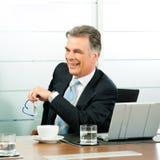 Hogere Manager in een vergadering royalty-vrije stock fotografie