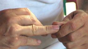 Hogere manicure stock footage