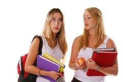 Hogere Meisjes 2 van de middelbare school Stock Afbeeldingen