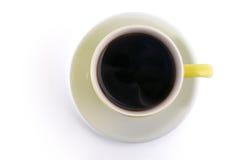 Hogere mening van een koffiemok Stock Foto