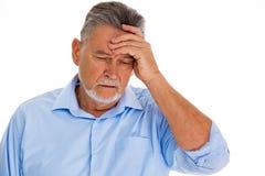 Hogere mens die hoofdpijn heeft Royalty-vrije Stock Afbeelding