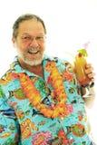Hogere mens met cocktails royalty-vrije stock afbeeldingen