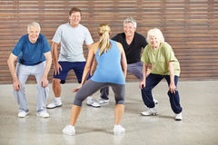 Hogere mensen die aan muziek dansen stock foto's