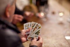 Hogere spelkaarten stock afbeeldingen