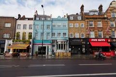 Hogere Straat in Londen Royalty-vrije Stock Foto