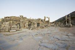 Hogere Straat oude stad van Ephesus. Stock Fotografie