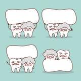 Hogere tand met leeg aanplakbord vector illustratie