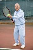 Hogere tennisspeler royalty-vrije stock foto