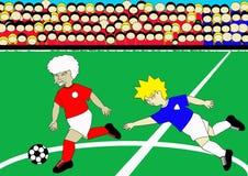 Hogere Voetballer stock illustratie