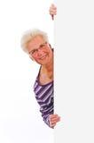 Hogere vrouw Stock Foto