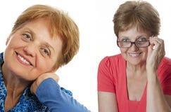 Hogere vrouw Stock Foto's