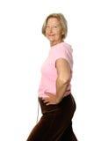 Hogere vrouw die oefeningen doet royalty-vrije stock afbeeldingen