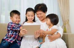 Hogere vrouw en kleinkinderen Royalty-vrije Stock Fotografie