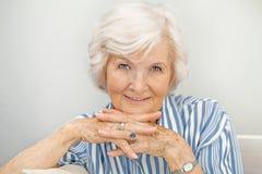 Hogere vrouw porträt IV royalty-vrije stock foto
