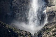 Hogere Yosemite-Daling, het Nationale Park van Yosemite stock fotografie